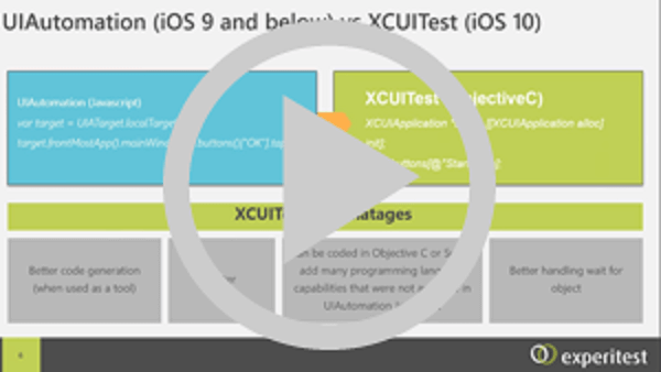 Mobile Testing with Appium - How to modify your tests to run on iOS10?