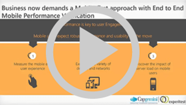 Experitest & Capgemini Co Webinar: Performance Testing for the Optimal Mobile User Experience