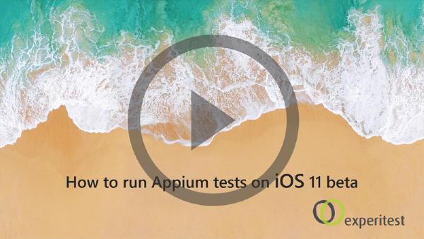 How to run your Appium tests on iOS 11 beta - step by step tutorial