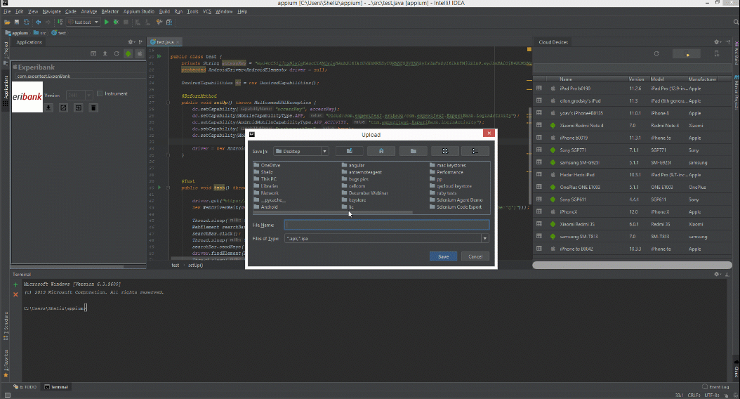Appium Studio for IntelliJ - mobile app and web testing